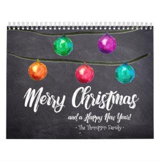 Personalized, Christmas, Watercolor, Custom Photo Calendar