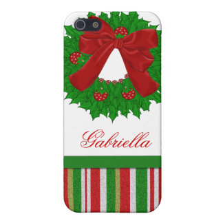 Personalized Christmas Wreath i Cover For iPhone SE/5/5s