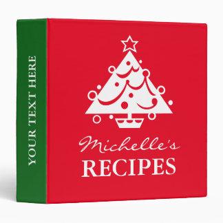 Personalized Christomas tree holiday recipe binder