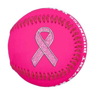 Personalized Chrome Like Pink Ribbon Awareness Baseball