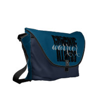 Personalized Chronic Illness Warrior Messenger Bag