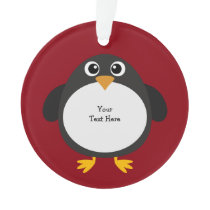 Personalized Chubby Penguin Ornament