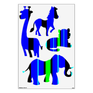 Personalized Circus Decals for Birthday Party
