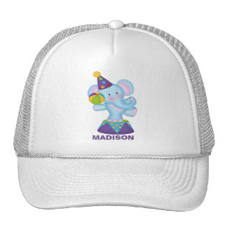 Personalized  Circus Elephant Baseball Cap Trucker Hat