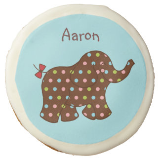 Personalized Circus Elephant Cookies