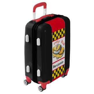 Personalized City Kid Taxi Cab Luggage
