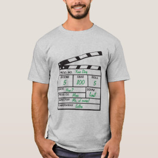 Personalized Clapboard T-Shirt