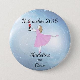 Personalized Clara Ornament Pinback Button