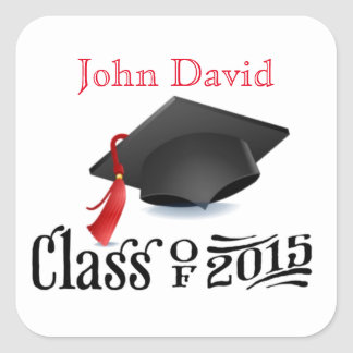 Personalized Class of 2015 Envelope Seal Stickers