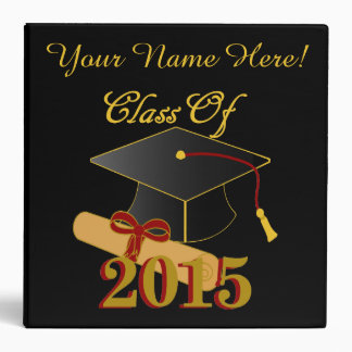 Personalized Class of 2015 Memory Binder