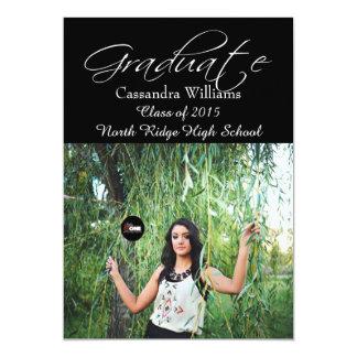 Personalized Class of 2015 Senior Graduation 5x7 Paper Invitation Card