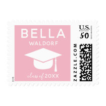 Personalized Class of 2018 Graduation Stamps Pink