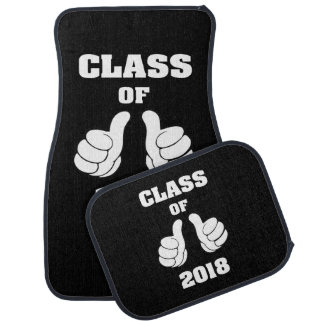 Personalized Class of 2018 Thumbs This Guy Girl Car Mat