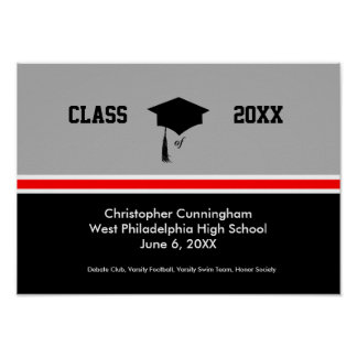 Personalized Class of Graduation Poster