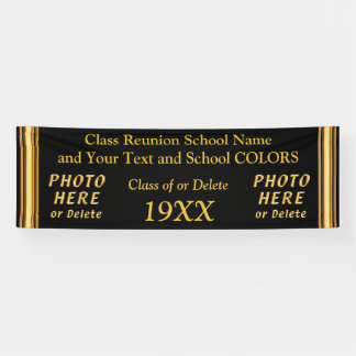 PERSONALIZED Class Reunion Banner in Your COLORS