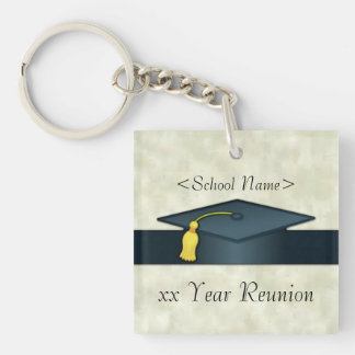 Personalized Class Reunion Cap & Diploma Key Chain
