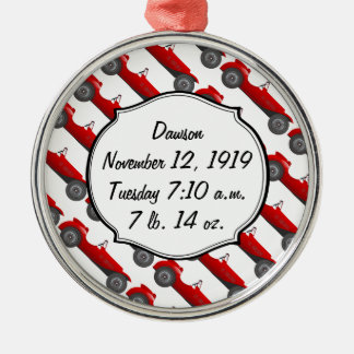 Personalized Classic Baby Boy Stat Gifts Christmas Tree Ornament