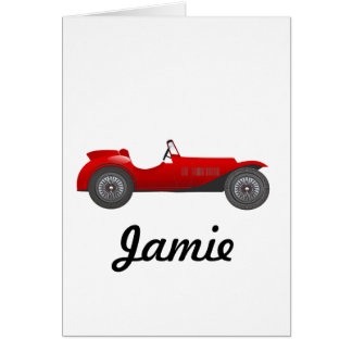 Personalized Classic Car Gifts Card