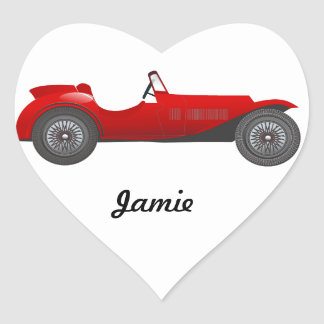 Personalized Classic Car Gifts Heart Sticker