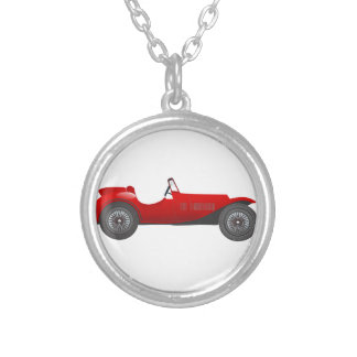 Personalized Classic Car Gifts Silver Plated Necklace