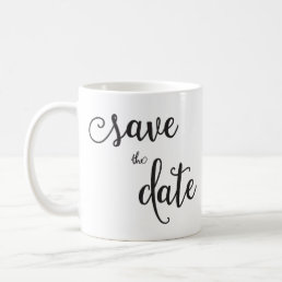 Personalized Classic White Save The Date Mug