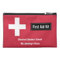 Personalized Classroom First Aid Kit Emergency Red Travel Accessories Bags