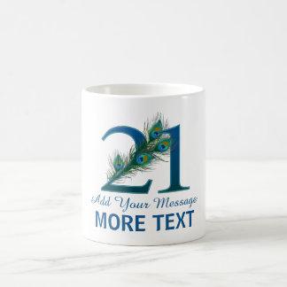 Personalized classy 21st birthday 21 mug