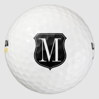 Personalized classy monogrammed golf ball set pack of golf balls