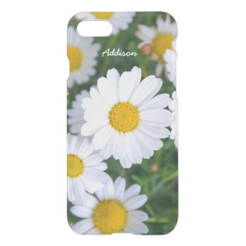 Personalized Clear iPhone 7 Cases Daisy