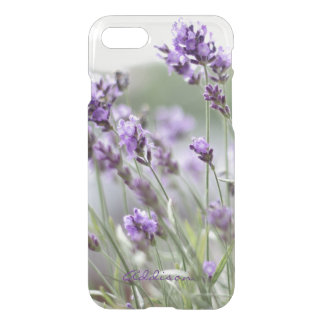 Personalized Clear iPhone 7 Cases Lavender