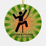 Personalized Climbing Ornament