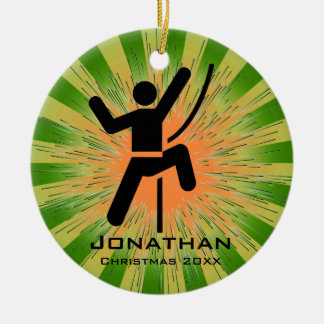 Personalized Climbing Ornament