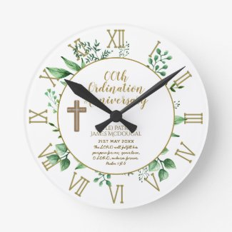 Personalized Clock Priest Ordination Anniversary