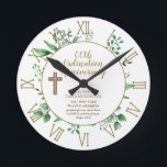 """Personalized Clock Priest Ordination Anniversary<br><div class=""""desc"""">This decorative wall clock is one of many in this collection that features 4 template text fields allowing you to add the ordination anniversary in tears, the name of your beloved clergy member (Priest, Deacon, Minister, Pastor, Bishop, Nun or other) and the date of the anniversary of ordainment. There is...</div>"""