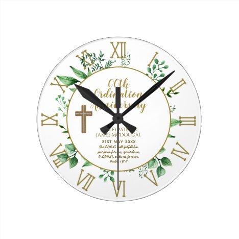 Personalized Clock Priest Ordination Anniversary