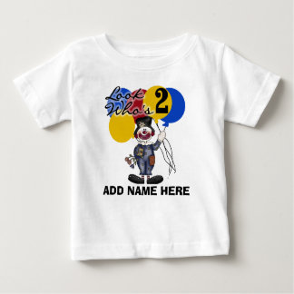 Personalized Clown 2nd Birthday T-shirt