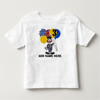 Personalized Clown 3rd Birthday T-shirt