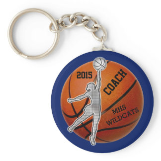 PERSONALIZED Coach and or Basketball Team Gifts Keychain
