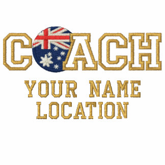 Personalized Coach Australia Your Name Your Game Embroidered Polo Shirt