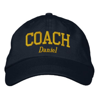 Personalized Coach in Golden Yellow Embroidered Baseball Cap