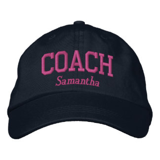 Personalized Coach in Hot Pink Embroidered Baseball Cap