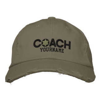 Personalized Coach Snowflake Military Style Baseball Cap