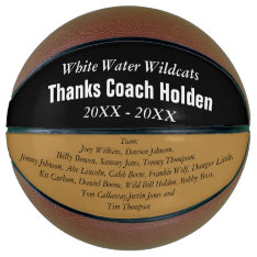 Personalized Coaches Name Team Members Year Basketball at Zazzle