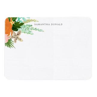 Personalized | Coastline Floral Card