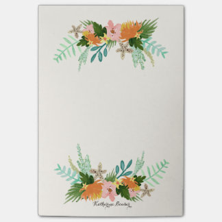 Personalized | Coastline Floral Post-it® Notes