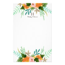 Personalized | Coastline Floral Stationery