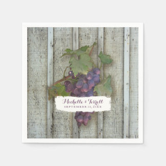 Personalized Cocktail Party Decor Wine Grape Theme Napkin