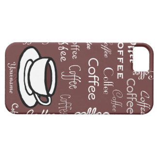 Personalized Coffee and Coffee Cup iPhone SE/5/5s Case