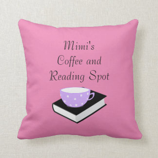 Personalized Coffee and Reading Spot Accent Pillow