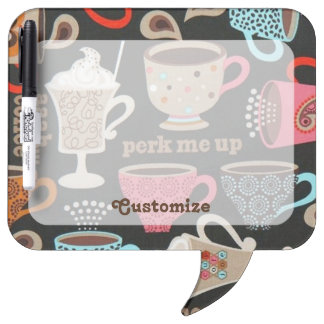 Personalized Coffee Cups Cafe Dry Eraser Board Dry Erase Boards